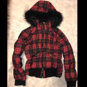 💄 DollHouse Buffalo plaid coat